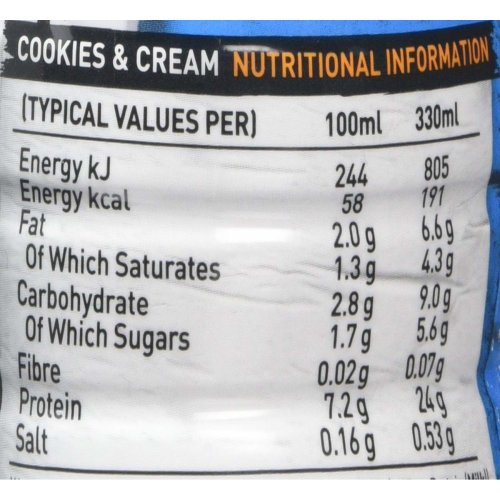 Grenade Carb Killa 330 ml Cookies & Cream High Protein Shake Bottles, Pack of 8