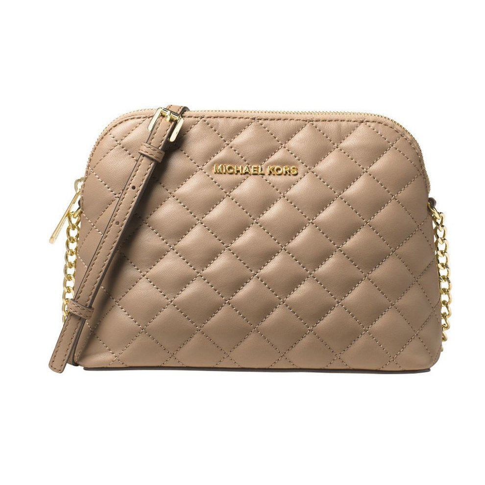 94444b0914b5 Michael Kors Cindy Large Dome Crossbody Quilted Costa Lamb 18K - Bisque -  32T6GCPC7L-097 on OnBuy