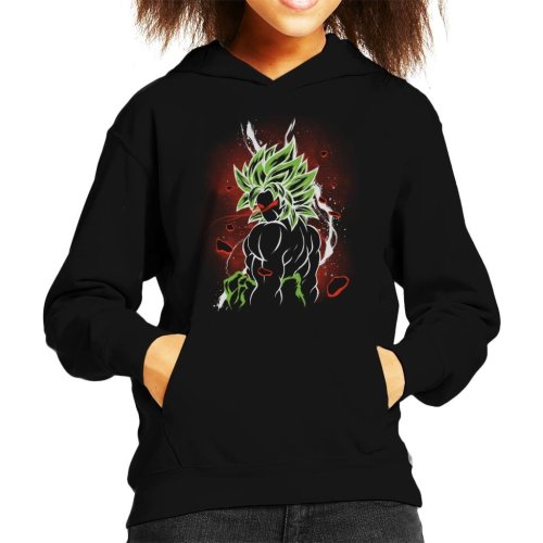 Dragon Ball Z Beserk Red Eyes Kid's Hooded Sweatshirt