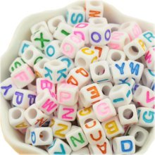 "Acrylic Letter ""A-Z""  Beads for Ornaments Jewelry Making for Kids Jewelry"