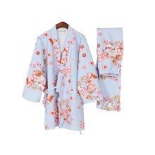 Autumn & Winter Thicken Kimono Loose Cotton Pajamas Women's Pajamas Suit