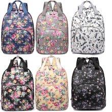 Miss Lulu Women Backpack Girls School Bag Flower Matte Oilcloth
