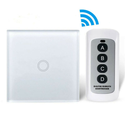 Smart Wireless Touch Home Wall Lamp Light Switch Remote Control 1 Gang 1Way EU.