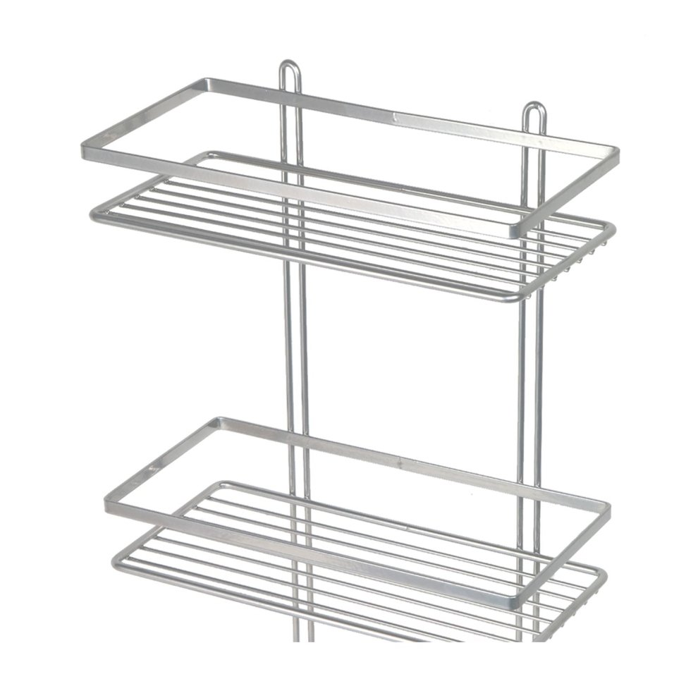 3-Tier Silver Wall-Mounted Shower Caddy | Rustproof Shower Basket on ...