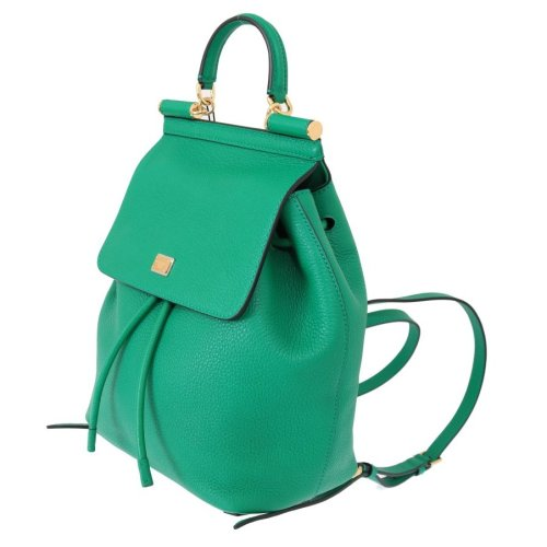 31aa516f02 Dolce & Gabbana Green SICILY Leather Backpack Bag on OnBuy