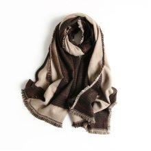 Generous Lattice Tassel Winter Warm Scarves