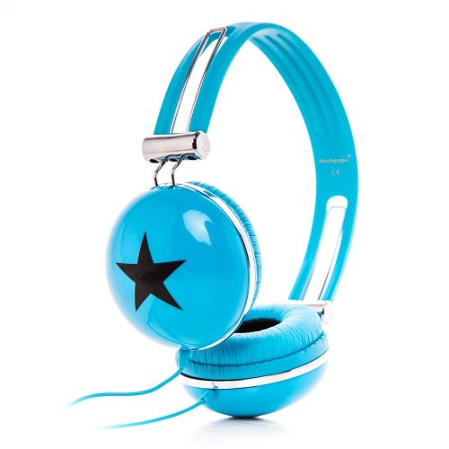 RockPapa Adjustable Stereo Star Kids Headphones Earphones, Over Ear, Headphone for Girls Boys Teens Childs Adults, Soft Earpad, Deep Bass for MP3...