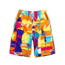 Quick-drying Pants Men Casual Boardshorts Holiday Loose Beach Shorts Orange