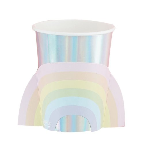 Pastel Paper Party Cups x 8 - Birthday Partyware