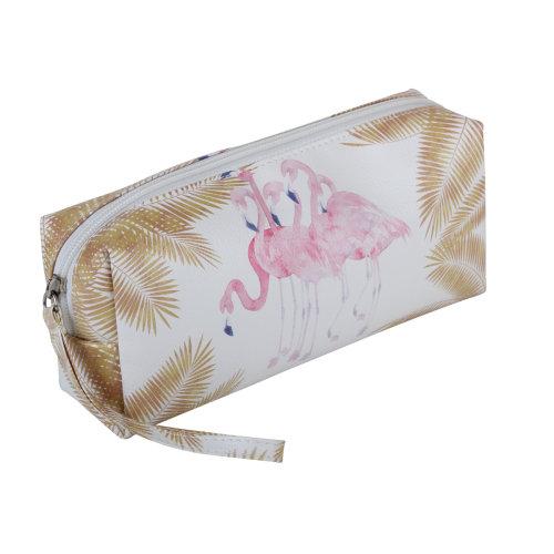FMG Cosmetics Make Up Bag, Flamingo