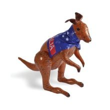 Inflatable Kangaroo Decoration - Party 70cm Australian Flag Fancy Dress Up Blow -  inflatable kangaroo party 70cm australian flag fancy dress