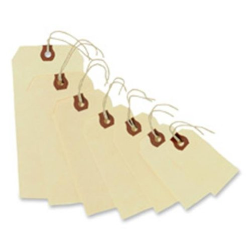 Consumer Products  Shipping Tags- No 5 Strung- 4-.75in.x2-.38in.- Manila