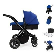 Ickle Bubba Stomp V2 All in One Travel System - Blue on Black Frame