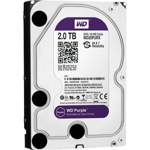 2TB WD Purple SATA3 64Mb Surveillance Hard Drive