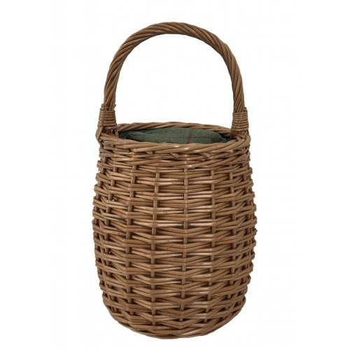 Green Tweed Honey Pot Shape Picnic Cooler Wicker Basket