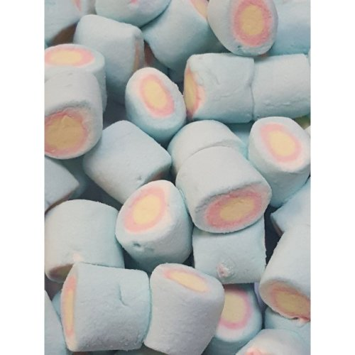 Big Blue Marshmallows with Multi Coloured Centres