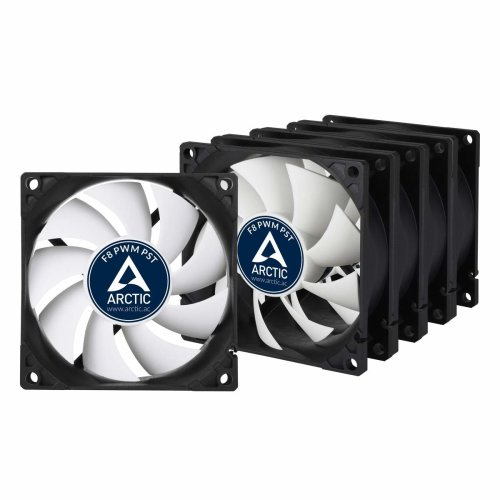 ARCTIC F8 PWM PST - 80 mm PWM PST Case Fan - Five Pack   Silent Cooler with Standard Case   PST-Port (PWM Sharing Technology)   Regulates RPM in sync