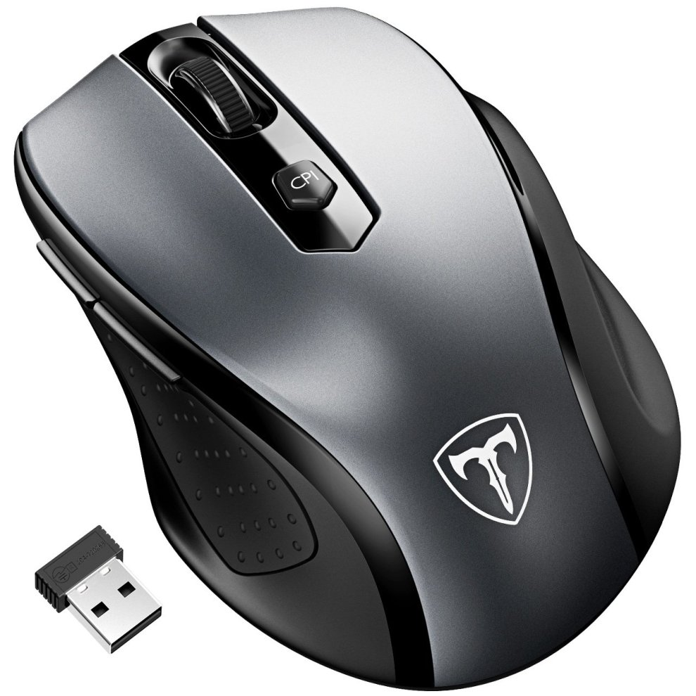 56c87433179 Wireless Mouse, Patuoxun 2.4G USB Wireless Mice Optical PC Laptop Computer Cordless  Mouse with ...