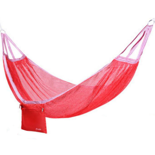 Single Person Ice Silk Hammock Outdoor Leisure Hammocks 125*190 CM Red
