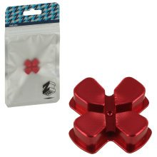 ZedLabz aluminium alloy metal directional d pad arrow button for Sony PS4 controllers - red