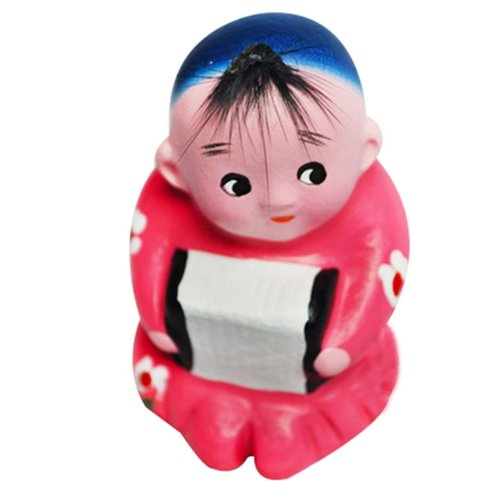 2 Pcs Personalized Home Decoration Creative Chinese Clay Doll Clay Ornaments