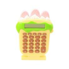 8 Digits LCD Display Strawberry ice cream Shape Business Mini Calculator, Yellow