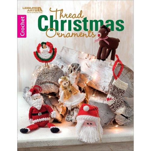 Leisure Arts-Thread Christmas Ornaments