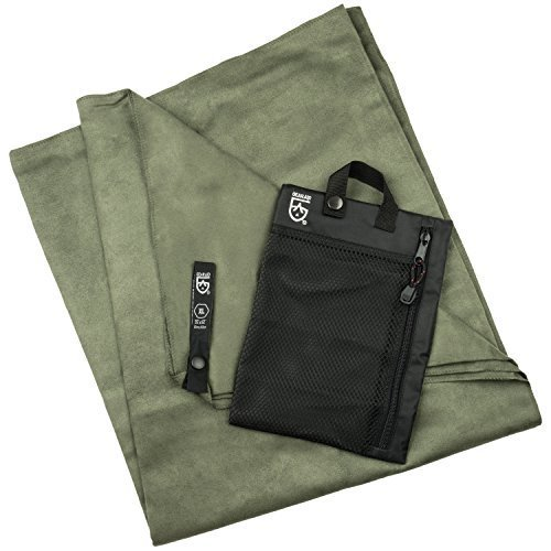 Gear Aid Quick Dry Microfiber Towel For Travel Camping And Sports Forest Green X Large 35 X 62