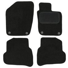 Car Mats for Volkswagen Polo (2009 - Now) Vehicle Specific Tailored - BLACK Needle punched Carpet