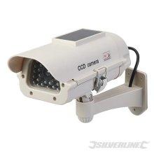 Silverline LED Solar Powered Dummy Cctv Camera