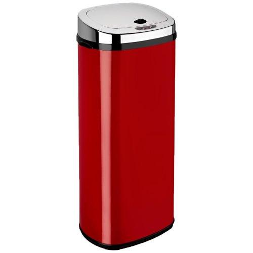 Dihl Rectangle Sensor Bin, Stainless Steel, Red, 50 Litre