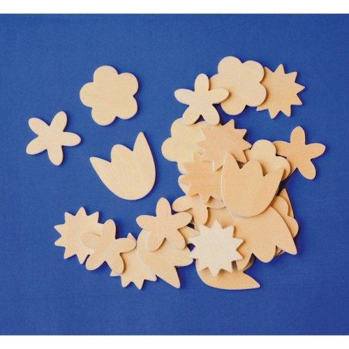 Pbx2470352 - Playbox - Wooden Flowers - 100 Pcs