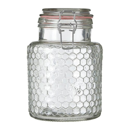 Small Honeycomb Glass Jar