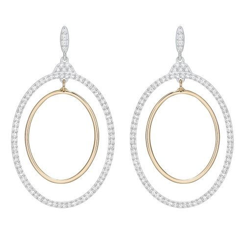 Swarovski Gilberte Hoop Pierced Earrings - White - 5278287