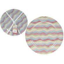 25cm Set Of 4 Coloured Melamine Plates -  25cm set 4 coloured melamine plates