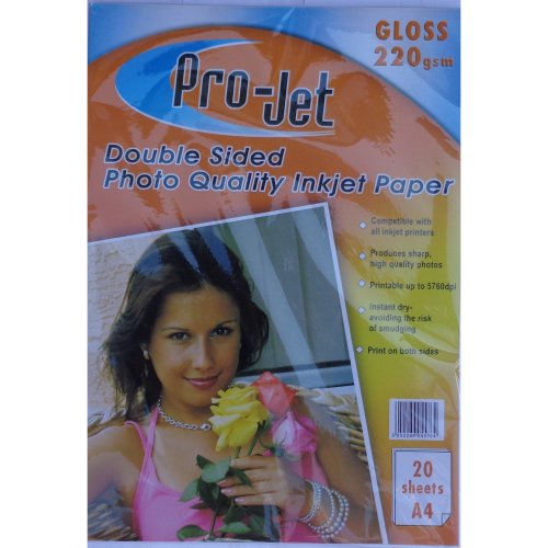 Projet 220gsm A4 Double Sided Gloss Photo Paper