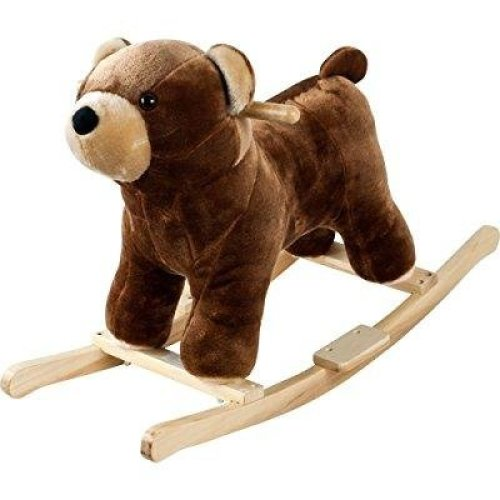 Happy Trails Plush Rocking Barry Bear With Sounds - Brown