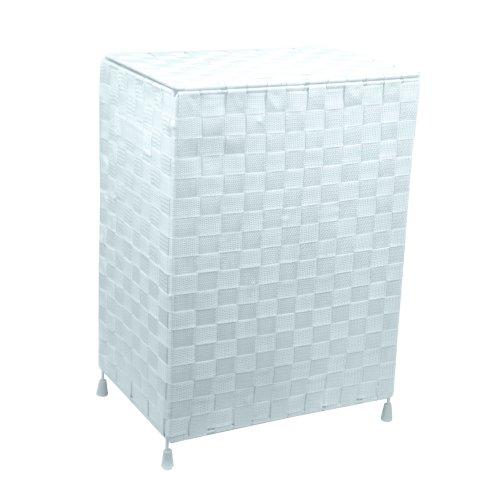 Foldable Laundry Hamper Basket White