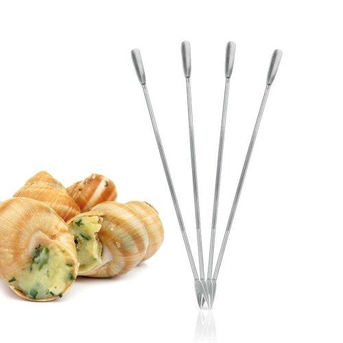 Metaltex 18 cm Stainless Steel Lobster Shellfish Forks, Set of 4, Silver