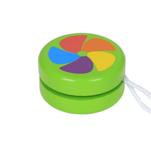 Wooden Children's Color Yo-Yo Classic Toy#E