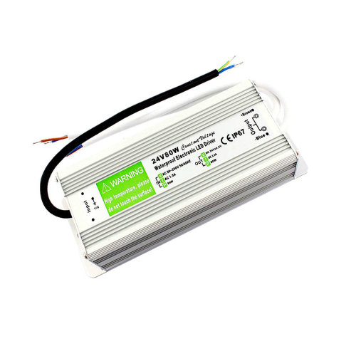 DC24V IP67 80W Waterproof 3.33A LED Driver Power Supply Transformer