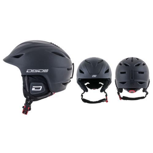 Dirty Dog Eclipse Snow Helmet - Matte Black-Large