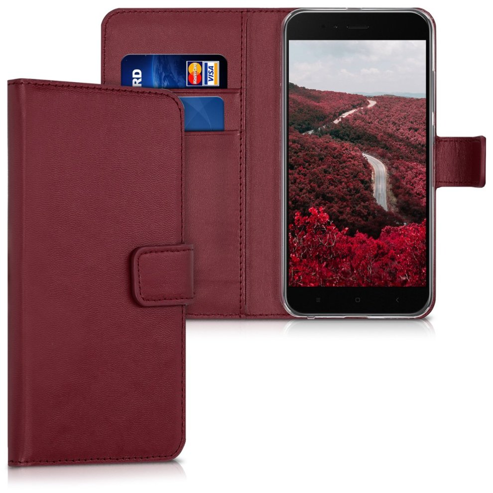 brand new 34aa6 382e8 kwmobile Wallet Case for Xiaomi Mi 5X / Mi A1 - Protective PU Leather Flip  Cover with Magnetic Closure, Card Slots and Kickstand