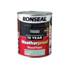 Ronseal 10 Year Weatherproof Exterior Wood Paint 750ml - SATIN Duck Egg