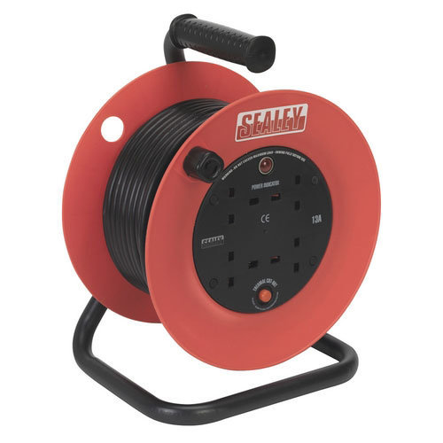 Sealey CR25/1.5 25mtr Heavy-Duty Cable Reel with Thermal Trip - 230V