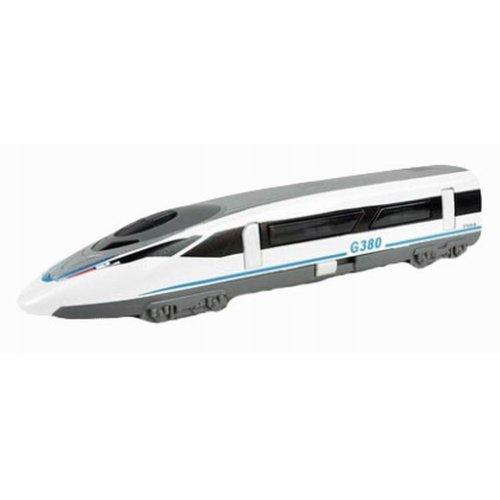 Simulation Locomotive Toy Model Trains Model Railway G380, White (18*3.2*4.1CM)