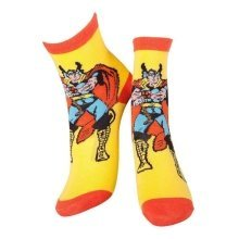MARVEL COMICS Thor and Mjolnir Crew Socks 43/46 Yellow/Orange CR115904MAR-43/46