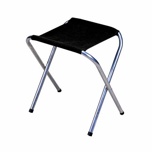 Stansport Folding Camp Stool (Black, 16 x 14-Inch)