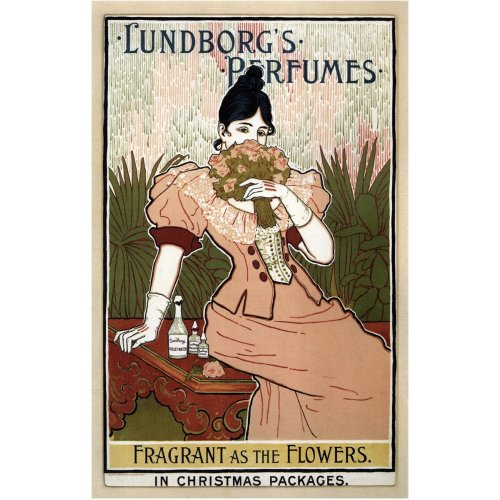 Advertising poster - Lundborg's Perfumes - High definition printing on stainless steel plate