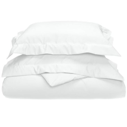 Impressions 800FQDC SLWH 800 Full & Queen Duvet Cover Set, Egyptian Cotton Solid - White